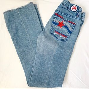 Vintage Pepe London embroidered jeans